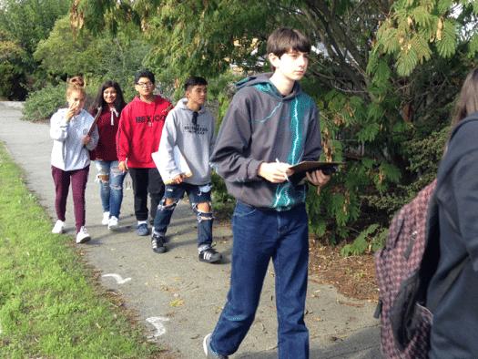 Montgomery High School students walking the walk.