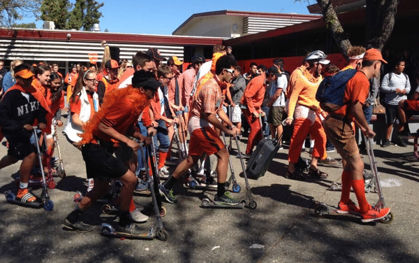 Montgomery High School boosted participation with scooter races in the quad.