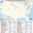 Canceled fossil fuel projects across the U.S.