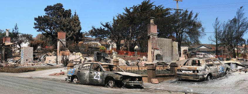 Image by Brocken Inaglory, Devastation in San Bruno, California was caused by a gas pipeline explosion.