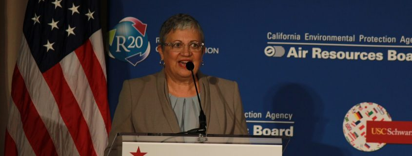 Mary Nichols, chairwoman of the California Air Resources Board, the state's clean air regulator, said California was winning the battle to retain the stricter regulations for cars.