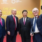 Presidents Xi Jinping and Trump pose for a selfie