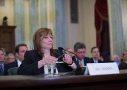 General Motors CEO Mary Barra testifies at hearings in 2014 to examine the General Motors (GM) recall and the National Highway Traffic Safety Administration's (NHTSA) defect investigation process.