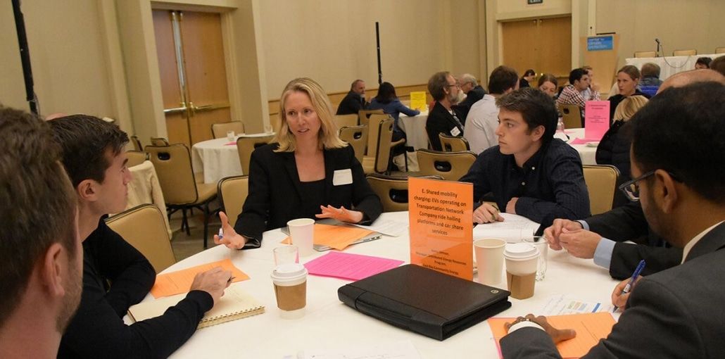 Jessie Denver, Manager, Distributed Energy Resources Program for East Bay Community Energy with colleagues at The Climate Center's annual Community Choice Energy conference in 2019.