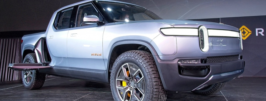 Debut of the Rivian R1T pickup at the 2018 Los Angeles Auto Show, November 27, 2018
