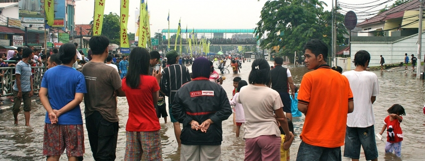 Indonesia's city Jakarta flooded