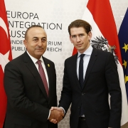 Sebastian Kurz, on the right, the leader of the conservative Austrian People's Party (ÖVP)