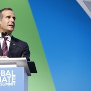 Mayor of Los Angeles, Eric Garcetti Credit: Global Climate Action Summit , Nikki Ritcher Photography