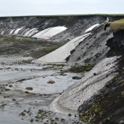 Slump D is a massive retrogressive thaw slump on Herschel island, by Boris Radosavljevic found at https://flickr.com/photos/139918543@N06/24531601650