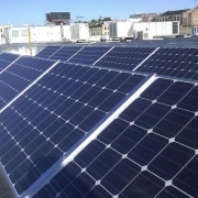 Rooftop PV installation on the Forest County Potawatomi Tribe administration building