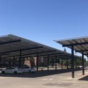 UOP now has solar carports in eight parking lots. -By Davis Harper