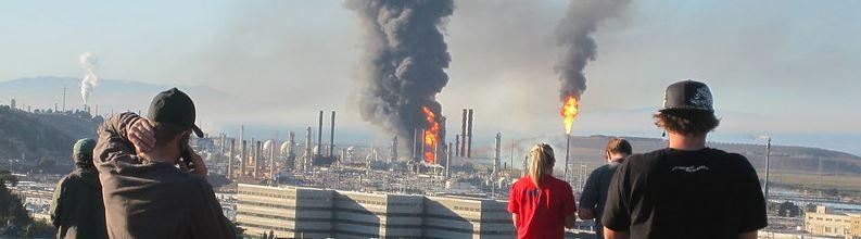 Chevron Refinery Fire by Greg Kunit